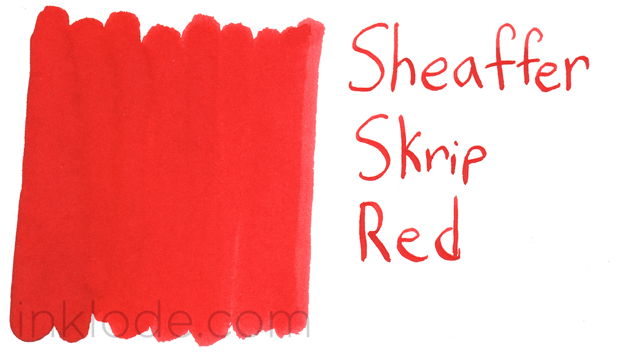 Sheaffer Skrip Red swab