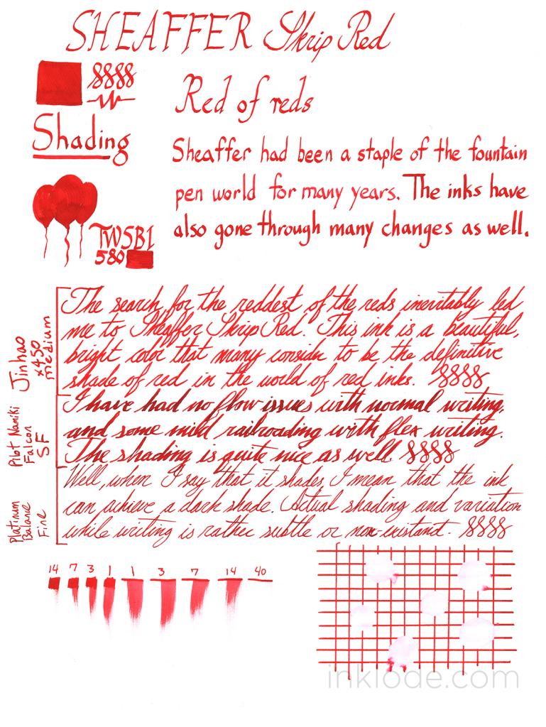 Sheaffer Skrip Red review